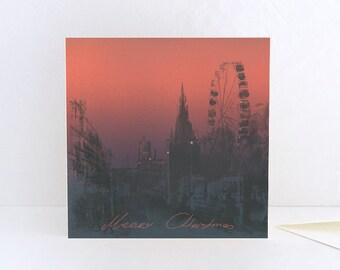 Christmas Card, Jingle Bells on Princes Street, Christmas Market Edinburgh, Merry Christmas from Scotland - Greeting Card