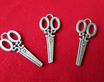 "BULK! 30pc ""scissors"" charms in antique bronze style (BC336B)"