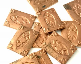 12 Vintage Victorian Inspired Copper Stampings