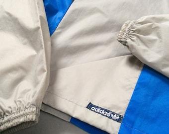 1980s ADIDAS NYLON COACH Vintage Rain Jacket