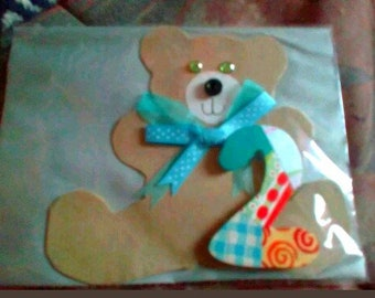Handmade Teddy Bear 2yrs Birthday card