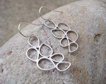 Silver Raindrop Earrings