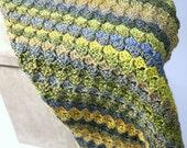 Crochet baby blanket thro...