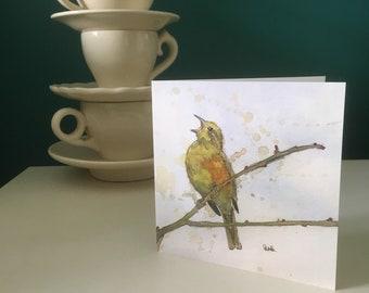 Yellowhammer greetings card
