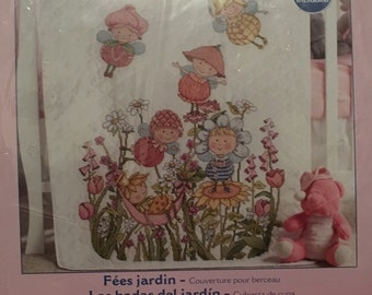 Bucilla Garden Fairies Crib Cover Kit
