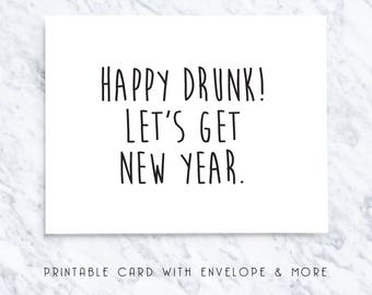 new year card, happy new year, new year note, new year greetings, new year gift