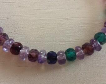 Crystal Beaded Bracelet, Women's Bracelet, Multi Colored Bracelet, Boho Bracelet, Birthday Gift, Stacking Bracelet, Slip On Bracelet, Fun