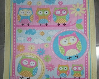 Owl quilt, Baby quilt/blanket, Flower quilt, Animal quilt