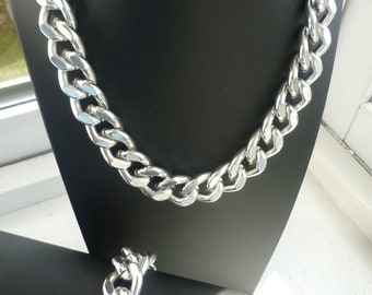 This listing is for Andrea. Ultra bold: Chunky Link Necklaces, Chunky Silver Necklace, Chunky jewelry, Silver Chain Necklace, Silver Jewelry