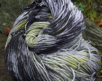 Handpainted sock yarn, fingering yarn, Superwash Merino Tencel Nylon, 4 oz-Haint