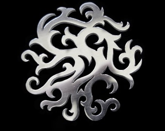 100% Recycled Sterling Silver Brooch / Pin - Viking Winter Tree Silhouette - YGGDRASIL