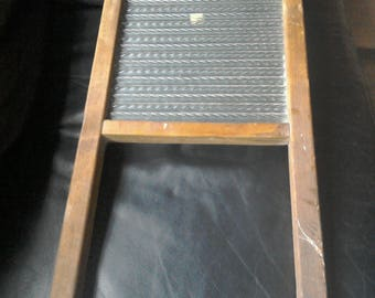 Washboard. Vintage, glass and pine.