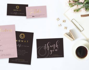 MONAT Package Bundle (business cards + order form + wash cards + VIP) - DIGITAL file only