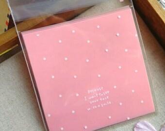 Parce que je veux voir votre visage avec un sourire cadeau rose sacs [Pack de 20]