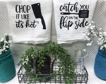 Set of kitchen flour sack towels