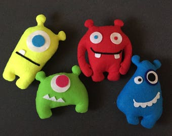 Cute mini monsters for party