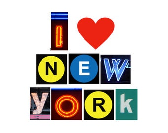 New York City Sign, NYC Gift, New York Lover, New York Decor, NY Art, I heart New York, I love New York Sign, Subway, Moving to NY