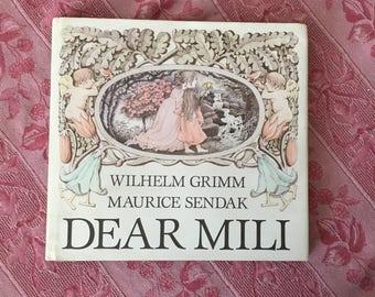 Dear Mili Vintage Childrens Book Maurice Sendak Grimm 1980s First Edition