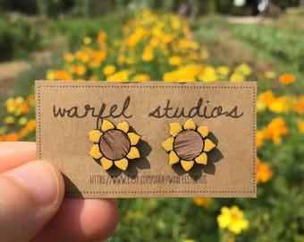 Sunshine Sunflower Studs
