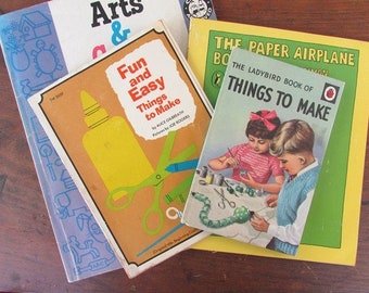 Kids Arts and Crafts Book Collection Summer Craft Fun Ladybird Things To Make Paper Airplanes Fun and Easy