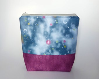 Small Knitting Project Bag, Galaxy Project Bag, Crafter Project Bag, Sock Knitting Bag