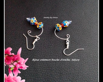 Jewelry designers earrings. Sakura