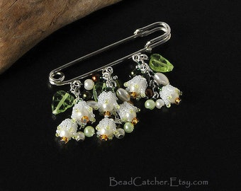 Lily of the valley spring pin