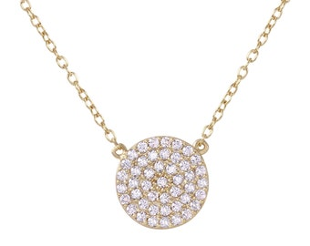 Circle of Life Necklace in Sterling Silver and 18K Gold over Silver