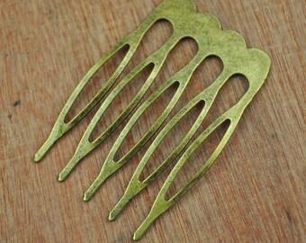 20pc 5 teeth Bronze hair combs,antiqued bronze tone Metal Hair Combs,hair teeth comb/head teeth comb metal findings--26x38mm.