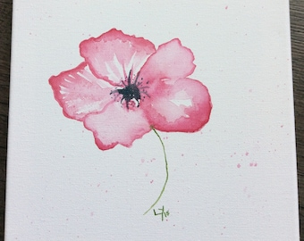 Pretty poppy watercolour