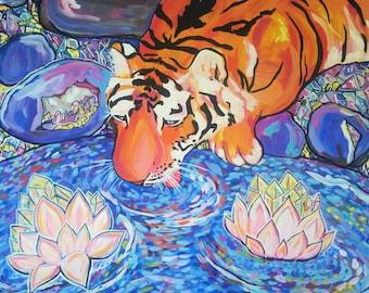 "Crystal Wilderness~ Original Acrylic Painting on 28"" x 22"" canvas"