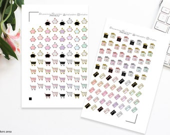 Icons Stickers | Adulting | Printable Planner Stickers