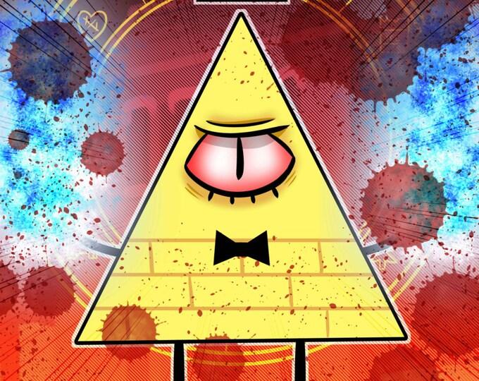Bill Cipher - Gravity Falls 11X17