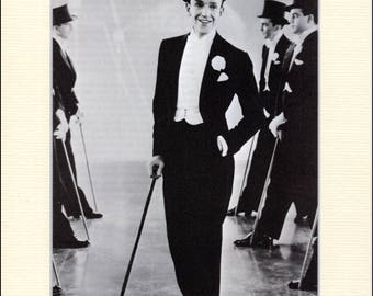Fred Astaire  in Top Hat Book Print, mounted