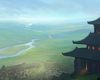 L5R Playmat [ Journey's End Keep ] Legend of the Five Rings LCG