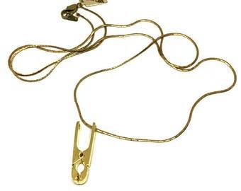 Kleine Zange | Alle Clip Halskette | Gold | Antike Zange | Miniatur-Tool | Maßgeschneiderte Rauch | Lange Halskette | Einzigartiges Geschenk | Kleine Werkzeuge