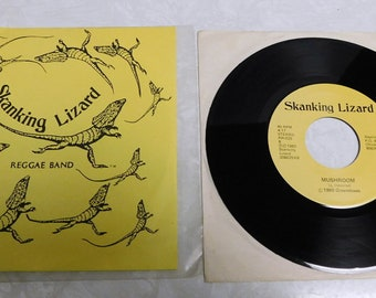 Skanking Lizard Jesse James / Mushroom - Vinyl Record Album LP Reggae Music 45rpm Punk Hardcore 1983 Reptile 306025X EX/EX