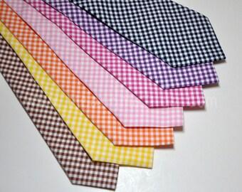 Boy's Gingham Necktie, Toddler Necktie, Baby Necktie, Children's Necktie, Gingham Tie,