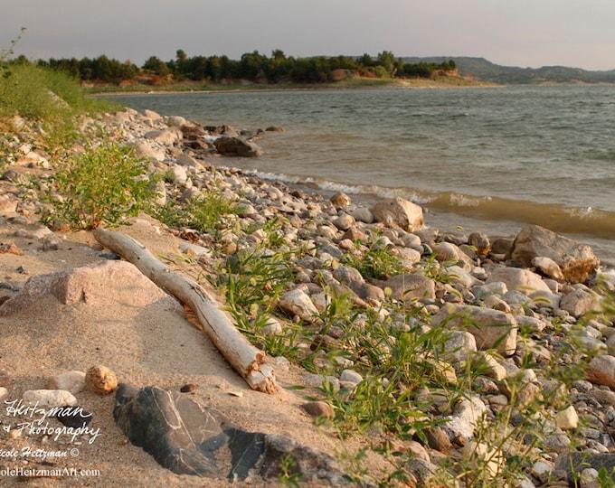 Missouri River South Dakota Beach Photography River Photo Shoreline Photo Camping Fishing Nicole Heitzman Photo Gallery Wrap Canvas Print
