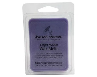 Forget Me Not Wax Melts, Highly Scented Wax, Soy Blend