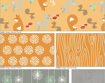 Good Natured orange color way cotton riley blake fabric by Marin Sutton