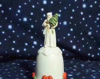 Vintage Enesco Santa Clause Figurine on Bell