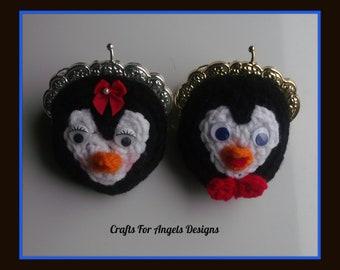 Mr & Mrs Penguin Money Purses.Crochet Patterns