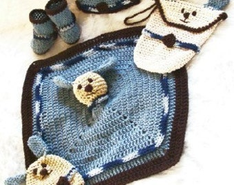 Baby Shower Gift Set to Crochet Pattern PDF 408