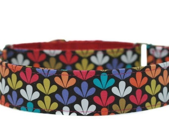 Mod Floral Dog Collar / Martingale Dog Collar / Custom Dog Collar/ Spring Dog Collar