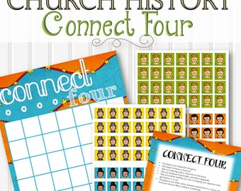 Connect Four for Church History - INSTANT DOWNLOAD