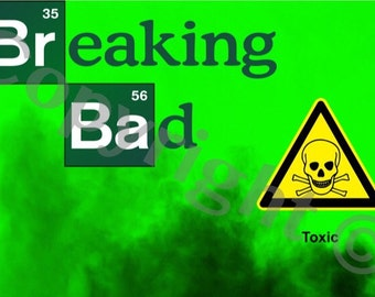 Breaking Bad instant download party invitation digital. Print out many times as you like designed by me