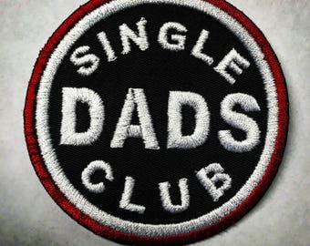 "3""x3"" Single dads club iron on or sew on patch"