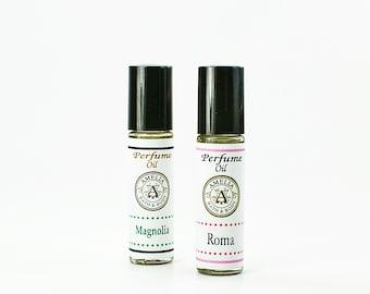 Lot de parfum huiles essentielles | Roll On parfum à l'huile, 2 Bottle Set, demoiselle d'honneur cadeau, idée cadeau pour vos amis, cadeau pour elle - vous choisir deux Types