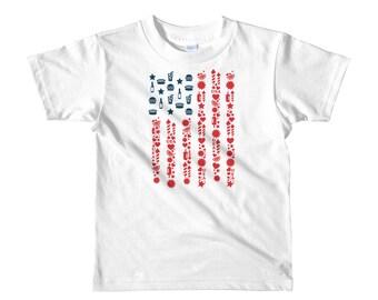 4th of July Shirt - July 4th - Kid's July 4th Shirt -July 4th Shirt -  Kid's T-Shirt - American Flag Shirt - Patriotic - American Flag